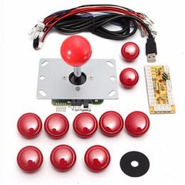 China DIY Handle Arcade Set Kits 5 Pin Joystick 24mm 30mm Push Buttons Replacement Parts USB Cable Encoder Board To PC Joystick&Button cheap arcade button kits suppliers