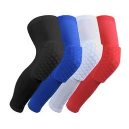 Waben-Socke-Sport-Sicherheits-Basketball-Sport-Kniepolster gepolsterte Knie-Klammer-Kompressions-Knie-Hülsen-Schutz-Knieschützer