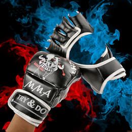 Protector kick boxing online shopping - Fitness Supplie Pair Women Half Finger Fight Boxing Gloves Mitts Sanda Karate Sandbag Protector for Boxeo MMA Muay Thai Kick Boxing Gear