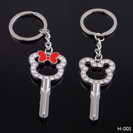 $enCountryForm.capitalKeyWord Canada - Wholesale Couples Keychains Creative Metal Zinc Alloy Key Cup Mouse Keyboard Keychain Keyrings Lovers Romantic Gift Keyfob Key Chain