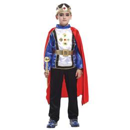 Xangai História Varejo 4 tamanho novos meninos do dia das bruxas rei árabe trajes cosplay Príncipe terno para crianças traje completo para crianças