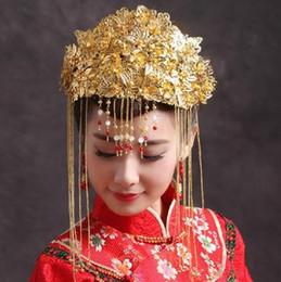 $enCountryForm.capitalKeyWord NZ - Beautiful Chinese bride crown costume bridal headdress pure handmade wedding hair ornaments 1546546