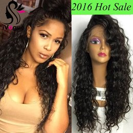 Peruvian Human Hair Loose Curl NZ - Virgin Peruvian Human Hair Full Lace Wigs Loose Curly Glueless Lace Front Human Hair Wig Grade 6A Kinky Curl Lace Wig