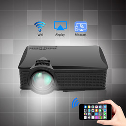 Proyector Wifi Australia - Wholesale- 2017 New SD60 Multi-screen Mini Portable Projector 1500 Lumens HD LED Home Cinema Support Miracast Airplay Wifi Proyector Beamer