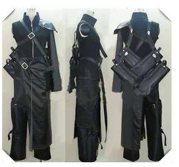 Make Sword Cosplay Canada - Final Fantasy VII Cloud Cosplay Costume with sword bag brooch