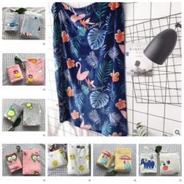 Children textile online shopping - 8 Styles cm Flamingo Blankets Polyester Children Cartoon Throw High Quality Home Textile Winter Thick Warm Blanket CCA8003