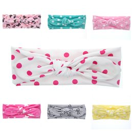 Étirement En Gros Pas Cher-Vente en gros - Mode Cute Kids Coton Bandana Headband Soft Stretch Turban Bowknot Hairband Head Wrap Hair Band Accessoires