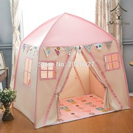 Wholesale-Love Tree Kid Play House Cotton Canvas Indoor Children Sleeping Tent Large House --Pink House & Large Kids Play Tents Online | Large Kids Play Tents for Sale