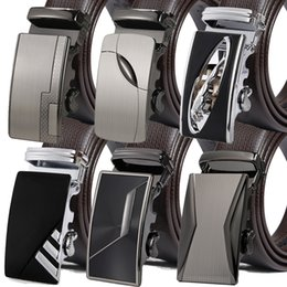 $enCountryForm.capitalKeyWord Canada - Free Shipping Automatic Buckle Belts Luxury Automatically Cowhide Men Belt Brown Black Belts for Men