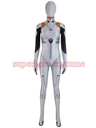 Halloween Costumes White Lady Canada - Ayanami rei Costume Lycra Spandex Digital Print Bodysuit Halloween Cosplay Zentai Catsuit For Female Women Girls Lady Hot Sale Free Shipping