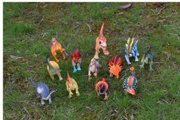 $enCountryForm.capitalKeyWord Canada - Free Ship 12pcs lot 15-18cm Dinosaur Plastic Jurassic Play Model Action & Figures T-REX DINOSAUR Toys for Children With no Box