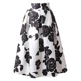 $enCountryForm.capitalKeyWord UK - A line midi skirt women pleated high waist skirt vintage floral print casual 2016 summer fashion ball gown