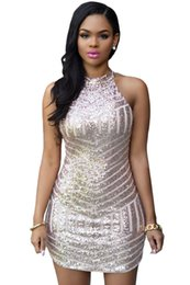 Robes Lentejuelas Pas Cher-Women Summer Sexy Sparkling Sequin Tank Mini Party Dress grandes lentejuelas vestidos feminino avec paillette robe de cocktail