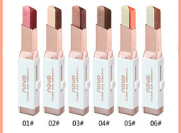 China 6pcs lot NOVO color eye shadow 6 different colors 3.8g velvet Gradient color Eyeshadow Stick free shipping supplier two colors eye shadow suppliers