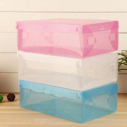 $enCountryForm.capitalKeyWord Canada - Colorful Foldable Plastic Shoe Storage Case Boxes Stackable Organizer Shoe Holder Easy DIY Organizador Free Shipping ZA3332