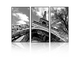 painting sponges Canada - Modern 3pcs Melamine Sponge Board Canvas Painting Eiffel Tower Pictures Paris Unframed Wall Art Living Room Painting