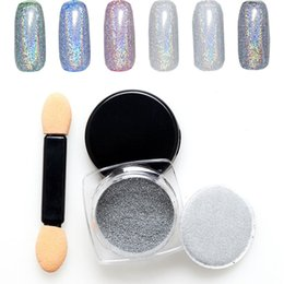 Paillettes À Ongles En Or Pas Cher-2g / Box Metal Effect Nail Sequins Powder Dust Shining Gold / Silver / Champagne Nail Glitter Tips Manicure Nail Art Décoration