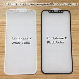 $enCountryForm.capitalKeyWord NZ - For Iphone X 3D Full Glass Cover Hard Curved Edge Tempered Glass Screen Protector High End Quality Anti-shock Silk Printing Colors--YH0312