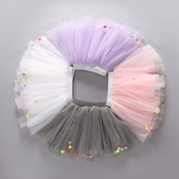 white tutu costume Canada - 5 Colors Summer Colorful Ball Net Yarn skirt for Kids Children Short Party Dance Skirt Baby Girls TUTU Skirts Princess Party Costumes