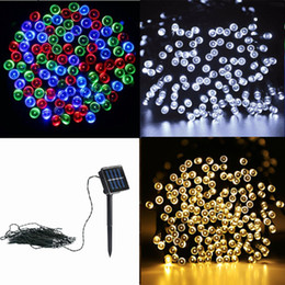 Red light face lamps online shopping - Led String Light M LEDs Solar Powered String Light Outdoor Fairy Lamp Waterproof Outdoor Decoration Light Christmas Lights