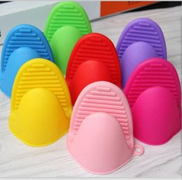 Discount holder stick - Microwave cooking tools Silicone Oven Mitt Cooking Pinch Grips Skid Silicone Pot Holder