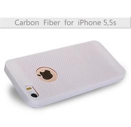 White Carbon Fiber Skin Canada - For Iphone 7 7PLUS I7 6 6S 5 5S SE Huawei P9 PLUS Soft TPU Silicone Case Carbon Fiber Texture Cover Anti-Skid Skin Cell Phone Fashion 5pcs