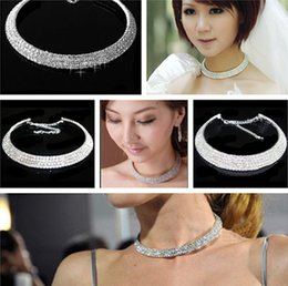 Discount easter gifts for wife 2018 easter gifts for wife on 2018 easter gifts for wife lady charming crystal rhinestone collar choker necklace wedding party jewelry for negle Images