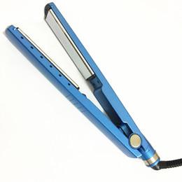 China 450F 1 1 4 plates Hair Straightener Titanium-Plated Straightening Iron Ionic US EU UK Plug Blue Straightener Straightening Iron cheap ionic straightening iron suppliers