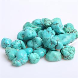 ¡SHIPPINGPOUCH LIBRE !! Venta al por mayor 200g grano grande granulado piedras de cristal de turquesa granos minerales cicatrices reiki buenas piedras de energía afortunada 20-30mm