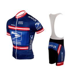 Опт 2021 USPS US США Соединенные Штаты Соединенные Штаты Postal Cycling Jersey Дышащие велосипедные изделия с коротким рукавом Летняя быстрая сухая ткань MTB ROPA Ciclismo B16