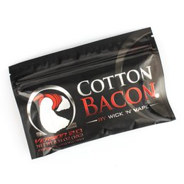 Made organic online shopping - Made in China High Copy COTTON BACON Pure Organic Cotton Wick n Vape Fiber For DIY RDA DHL
