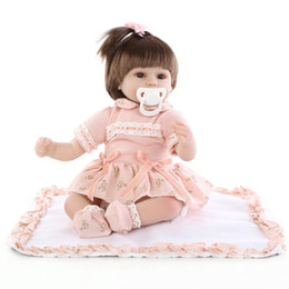$enCountryForm.capitalKeyWord NZ - 17inches lifelike reborn baby soft silicone vinyl real touch doll lovely newborn baby rooted fiber hair