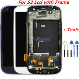 I535 Lcd Australia - For Samsung Galaxy S3 i9300 i747 i9305 i535 Quality A No Dead Pixel LCD Display Touch Screen Digitizer with frame Assembly with Logo & Tools