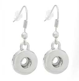 Interchangeable snap jewelry wholesalers online shopping - NOOSA Ginger Snap Earring Button mm Interchangeable Fashion Jewelry for Women Silver Dangle Charm Earring Christmas Gift