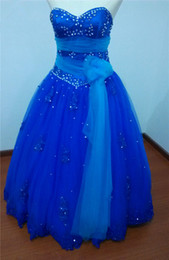 $enCountryForm.capitalKeyWord Canada - 2017 Fashion Royal Blue Crystal Lace Ball Gown Quinceanera Dresses with Appliques Plus Size Sweet 16 Dress Vestido Debutante Gowns BQ44