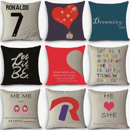 Superb Wholesale  2016 High Quality Cheap Pillows Let It Go Words Print Home  Decorative Cushion Vintage Cotton Linen Square Throw Pillow MYJ G9