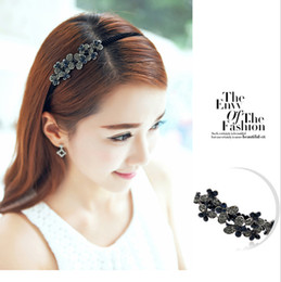 Crystal Diamond Fabrics Australia - Wholesale new version of the cloth headband crystal bow boutique Korean diamond hair ornaments,free shipping