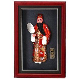 Vente en gros Le cadre photo de l'opéra de Pékin à trois chinois Zhu Geliang vent cadeau d'anniversaire