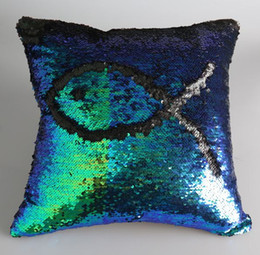 Sequins Pillow Case DIY Two Tone Glitter Sequins Throw Pillow Cases Sofa Car Decorative Cushion Covers High Quality and Sylish