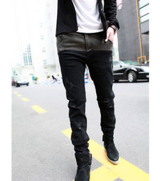 Hot Mens Jeans NZ - Wholesale-Hot Mens Jeans Skinny Straight Fit Pencil Pants Feet Trousers Fashion Korean