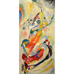 Chinese  Hand Painted abstract paintings Wassily Kandinsky Panel for Edwin R Campbell art oil canvas High quality home decor manufacturers
