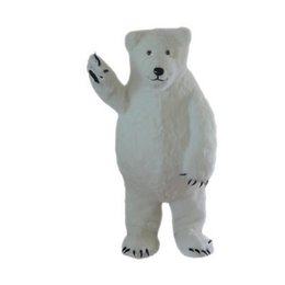 $enCountryForm.capitalKeyWord UK - White Polar Bear Mascot Costumes Cartoon Character Adult Sz 100% Real Picture66