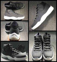 Gray Basketball Shoes Canada - 2016 Fashion 11 Men Basketball Shoes Grey Gray Black Wool Man Top Quality Sport Shoes Mens 11s Athletic Trainers Sneakers Size US 8-13