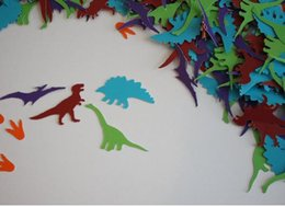 $enCountryForm.capitalKeyWord Canada - custom 150pcs glitter colorful Dinosaur Confetti winter wedding table scatters Christmas bridal shower bachelorette party decorations Event