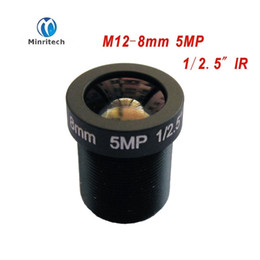 "cctv camera 8mm lens UK - HD cctv lens 5MP 8MM M12*0.5 Mount 1 2.5"" F2.0 45 degree for security CCTV cameras"