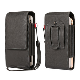 5.5 inch Universal Waist Bags Men Casual Waist Pack PU leather Dual Phone Pouch  Work Waist Bag for Most Phones d445fa798ad86