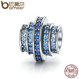 $enCountryForm.capitalKeyWord Canada - Wholesale Genuine 925 Sterling Silver Gradual Change Round Wheel Blue Melody Clear CZ Crystal Charms fit Bracelets Jewelry SCC129