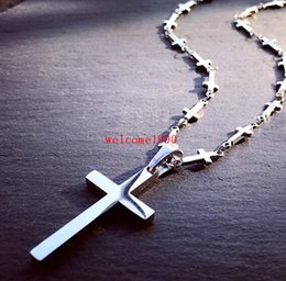 religious chains NZ - 2017 Lastest Unisex Men's women Fashion Stainless steel Religious cross Pendant Men's Strong Cross Chain Necklace Brand New Style