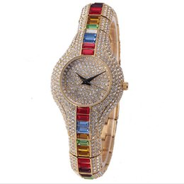 Small Clocks Watch UK - Brand Crystal Women Watches Luxury Ladies Gold Watch 2017 Shockproof Waterproof Small Women's Watch For Female Clock