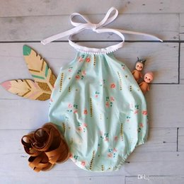 $enCountryForm.capitalKeyWord Australia - 2017 NEW ARRIVAL baby girl kids toddler Hawaii holiday Rose floral lace romper onesies bloomers Siamese pants Camisole Leotard vest